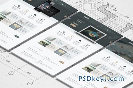 Isometric A4 Paper Mockup 25844 » Free Download Photoshop Vector