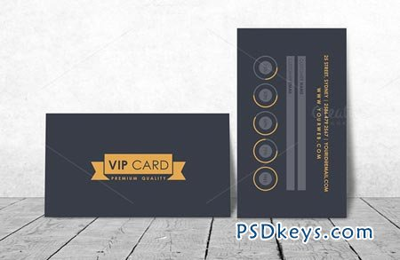 VIP Loyalty Card Template 45740 » Free Download Photoshop Vector