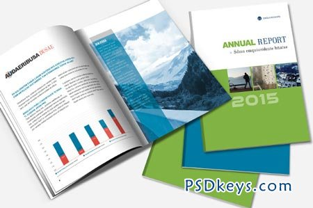 Annual Report  Brochure Template 22716 » Free Download Photoshop - free annual report templates
