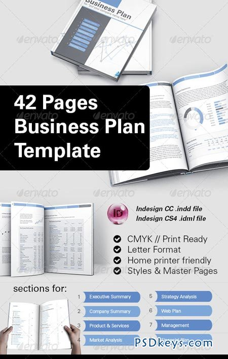 42 Pages Business Plan Template 8504828 » Free Download Photoshop