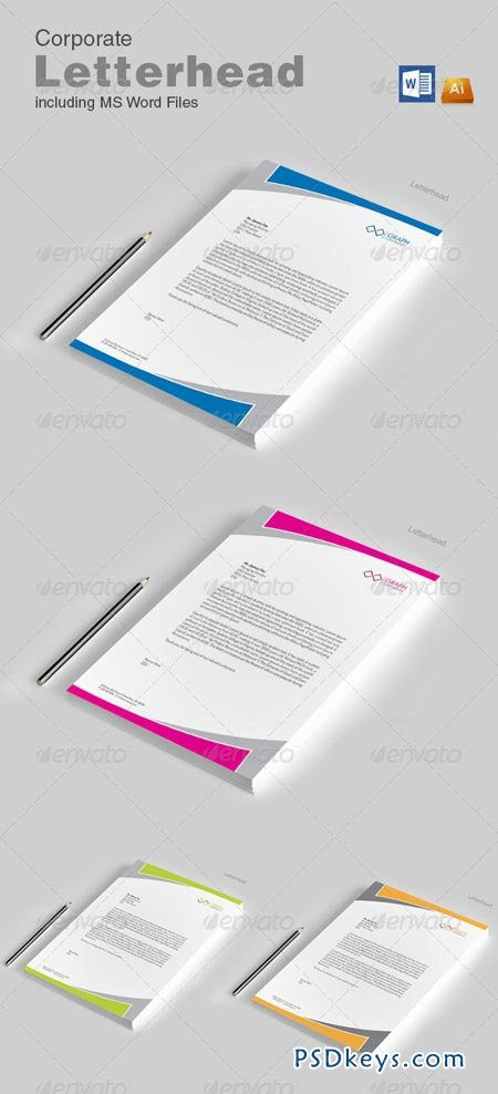 Letterhead with word 8642947 » Free Download Photoshop Vector Stock