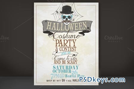 Halloween Costume Party Flyer 11138 » Free Download Photoshop Vector