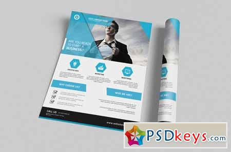 Corporate Flyer Template 124371 » Free Download Photoshop Vector