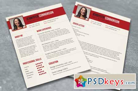 Fancy Resume  Cover Letter 99678 » Free Download Photoshop Vector