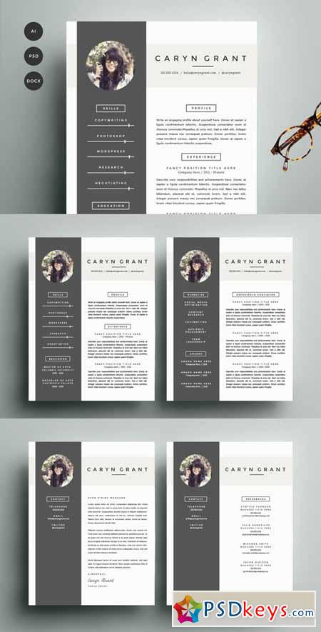 template cv photoshop free download