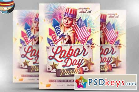 Labor Day PSD Flyer Template 66053 » Free Download Photoshop Vector - labour day flyer template