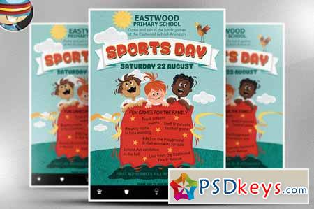 Kid\u0027s Sports Day Flyer Template 216710 » Free Download Photoshop
