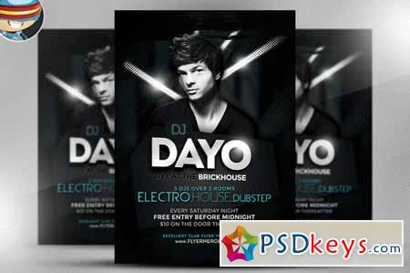 Dayo DJ Flyer Template 144451 » Free Download Photoshop Vector Stock