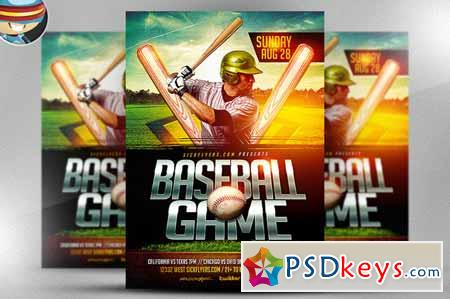 Baseball Flyer Template 56851 » Free Download Photoshop Vector Stock