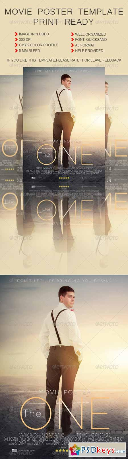 Movie Poster Template 6000514 » Free Download Photoshop Vector Stock