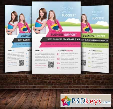Education Flyer Template 250191 » Free Download Photoshop Vector