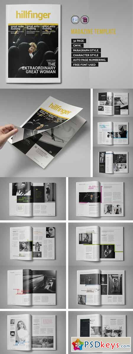 Indesign Magazine Template 299953 » Free Download Photoshop Vector