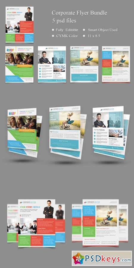 5 Corporate Flyer Templates 266303 » Free Download Photoshop - corporate flyer template