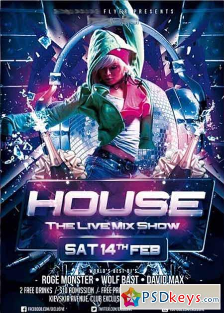 House Promote Party Premium Flyer Template » Free Download Photoshop