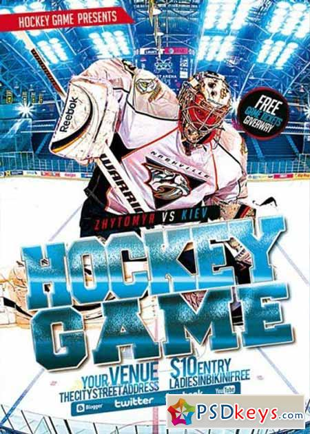 Hockey Premium Flyer Template » Free Download Photoshop Vector Stock