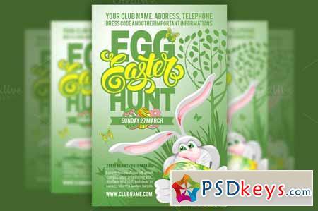 Easter Egg Hunt Flyer Template 555097 » Free Download Photoshop