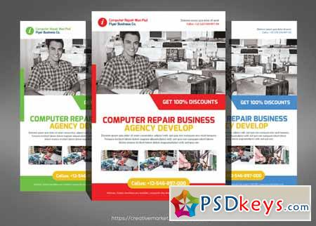 Computer Repair Flyer Templates 581961 » Free Download Photoshop - computer repair flyer template