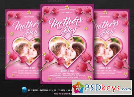 Mothers Day Flyer 634341 » Free Download Photoshop Vector Stock