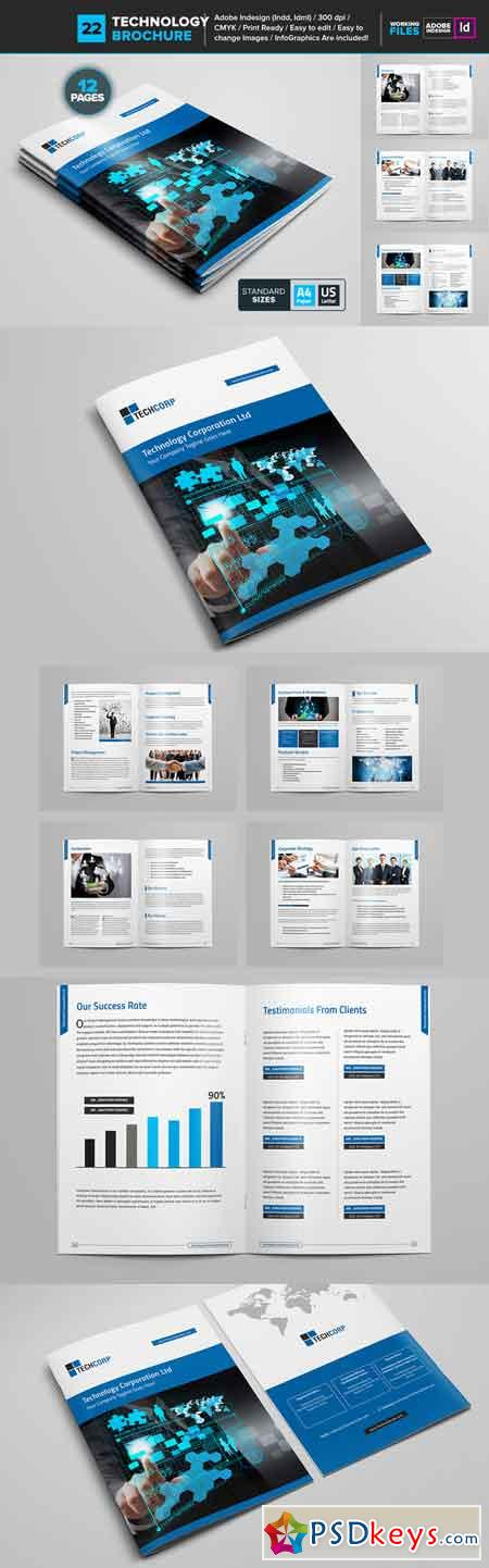Technology Brochure Template 22 681136 » Free Download Photoshop