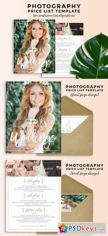 Wedding Photography Pricing Template 686516 » Free Download