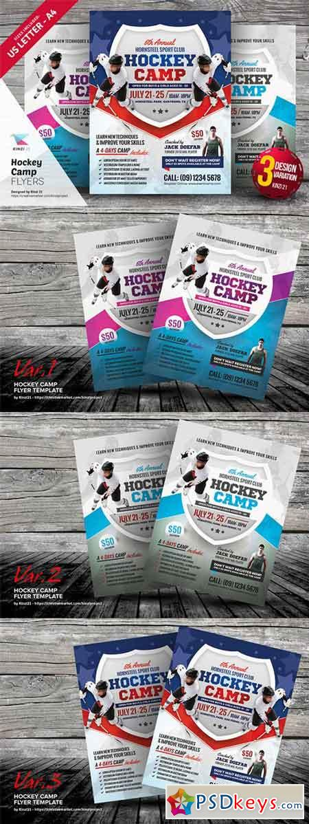 Hockey Camp Flyer Templates 676642 » Free Download Photoshop - camp flyer template