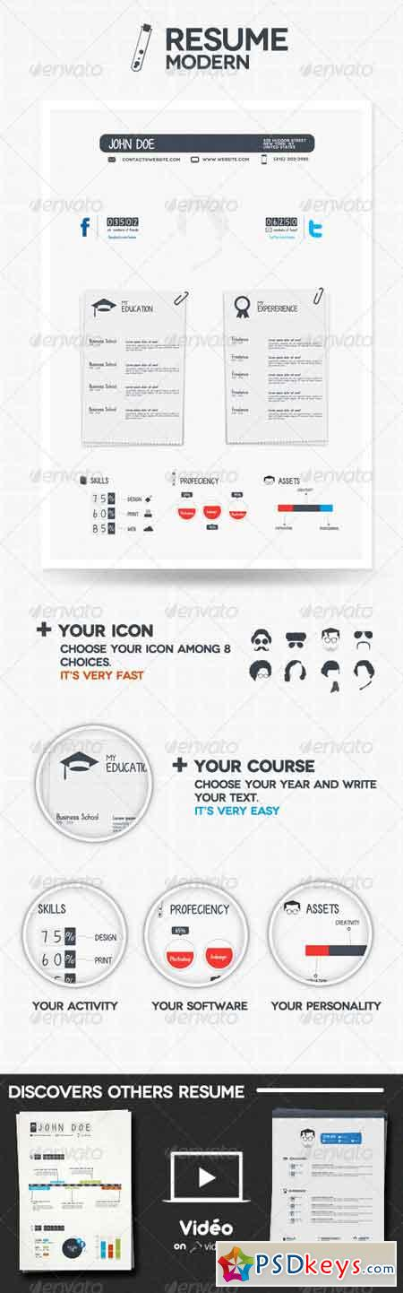 Modern Resume 650329 » Free Download Photoshop Vector Stock image