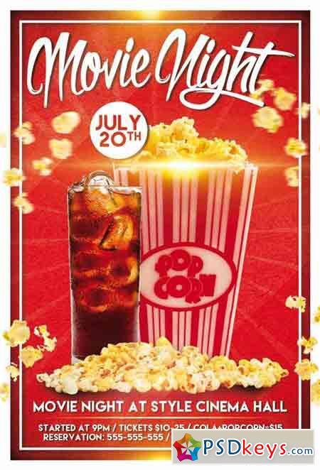 movie night flyer free - Dolapmagnetband - movie night flyer template