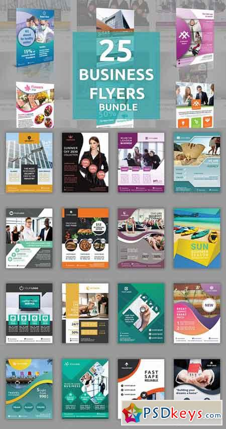 25 Business Flyers Bundle 768446 » Free Download Photoshop Vector - flyers for a business