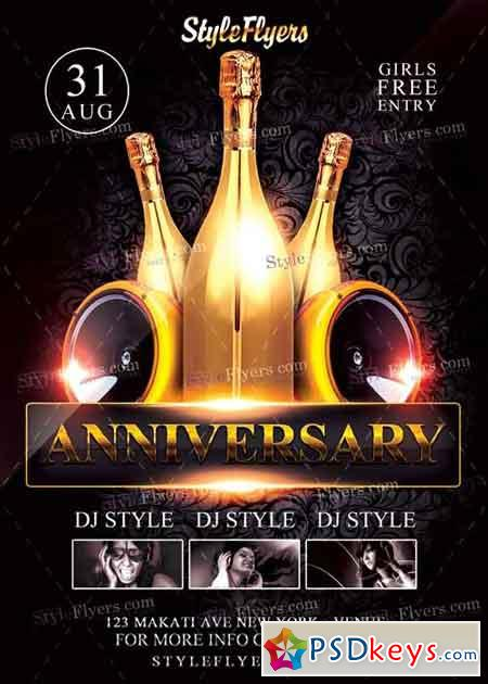 Anniversary Flyer PSD Flyer Template » Free Download Photoshop