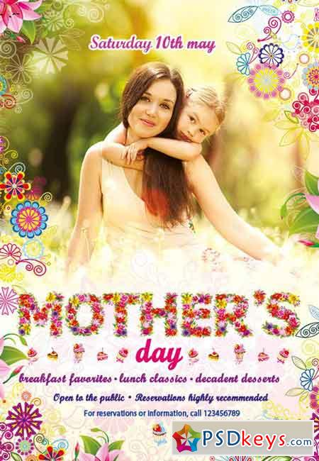 Mothers\u0027 Day Flyer PSD Template » Free Download Photoshop Vector