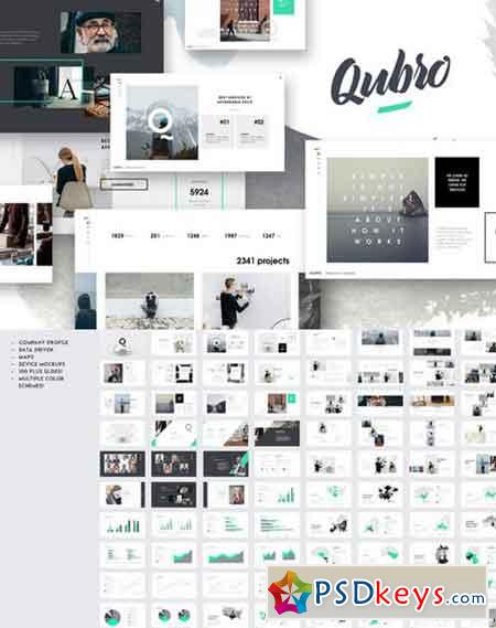 QUBRO - Minimal Keynote Template 809938 » Free Download Photoshop