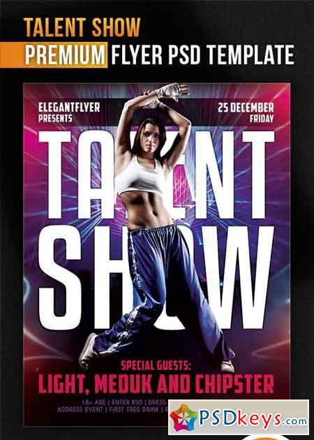 Talent Show V1 Flyer PSD Template + Facebook Cover » Free Download