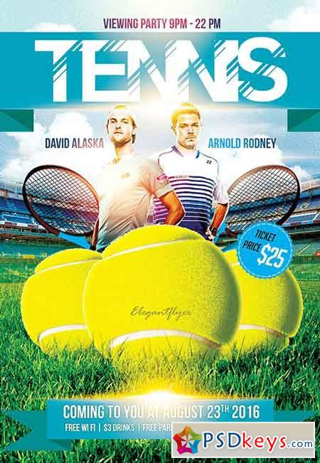 tennis » Free Download Photoshop Vector Stock image Via Torrent - tennis flyers templates free