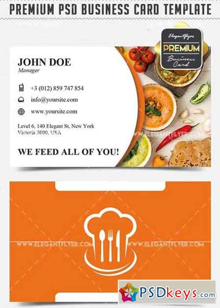 Restaurant V3 Business Card Templates PSD » Free Download Photoshop