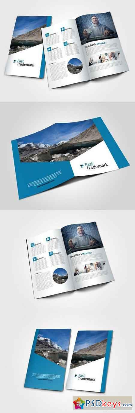 Business Bi Fold Brochure Template 767821 » Free Download Photoshop