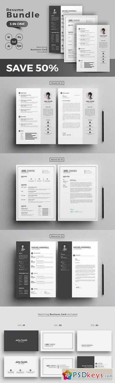 resume cv template bundle torrent