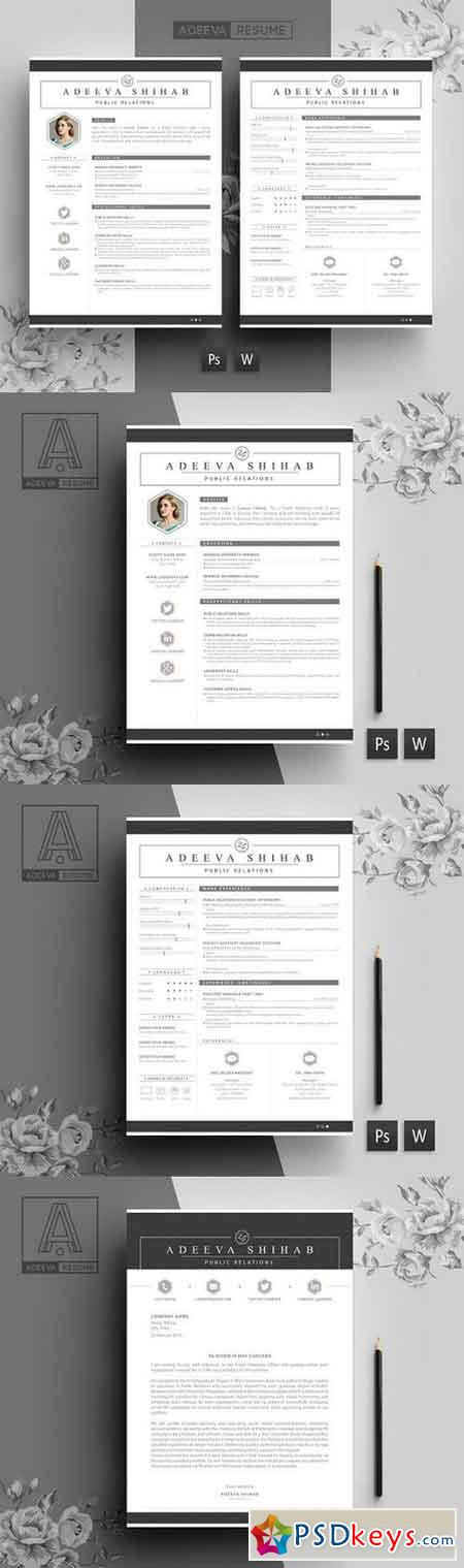 modern resume psdkeys