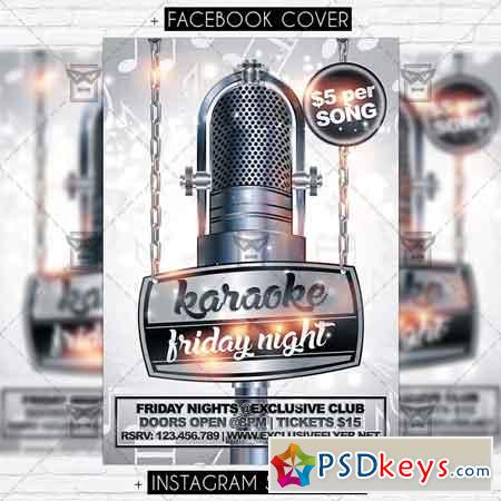 Karaoke Friday Night - Premium Flyer Template » Free Download