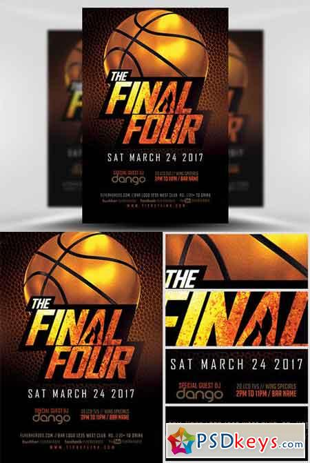 The Final Four Basketball Flyer Template » Free Download Photoshop - basketball flyer example