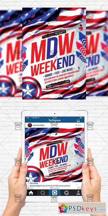 Memorial Day Weekend - Flyer Template + Instagram Size Flyer » Free