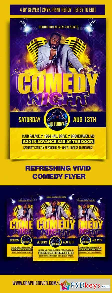 Comedy Night Flyer Template 19753243 » Free Download Photoshop - comedy show flyer template