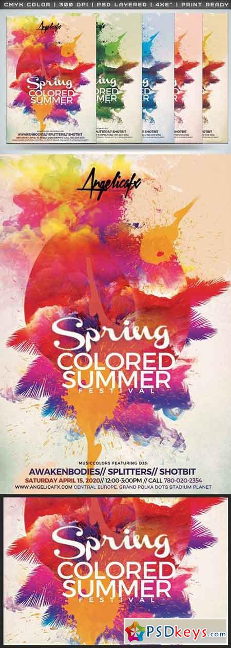 Spring Colored Summer Flyer Template 1409390 » Free Download