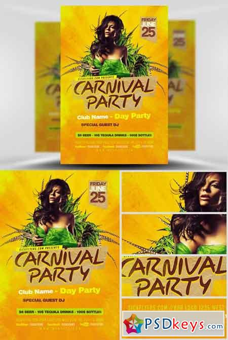 Carnival Flyer Template » Free Download Photoshop Vector Stock image