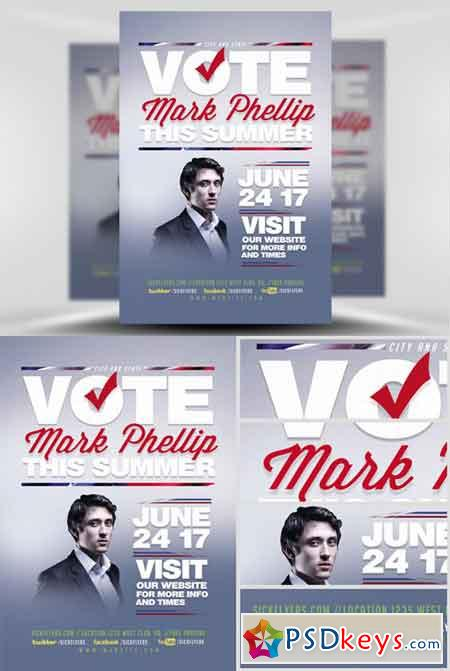 Political Flyer Template V2 » Free Download Photoshop Vector Stock