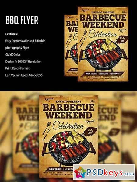 BBQ Flyer Template 1781774 » Free Download Photoshop Vector Stock - bbq flyer