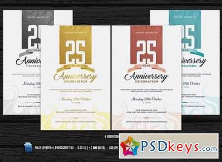 Anniversary Flyer 1102560 » Free Download Photoshop Vector Stock - anniversary flyer