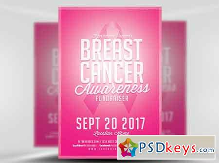 Cancer Awareness Fundraiser Flyer Template » Free Download Photoshop