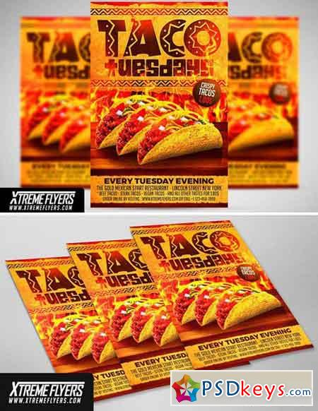 Taco Tuesdays Flyer Template 1811360 » Free Download Photoshop