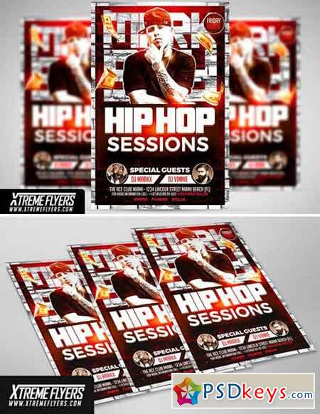 Hip Hop Flyer Template 1810011 » Free Download Photoshop Vector