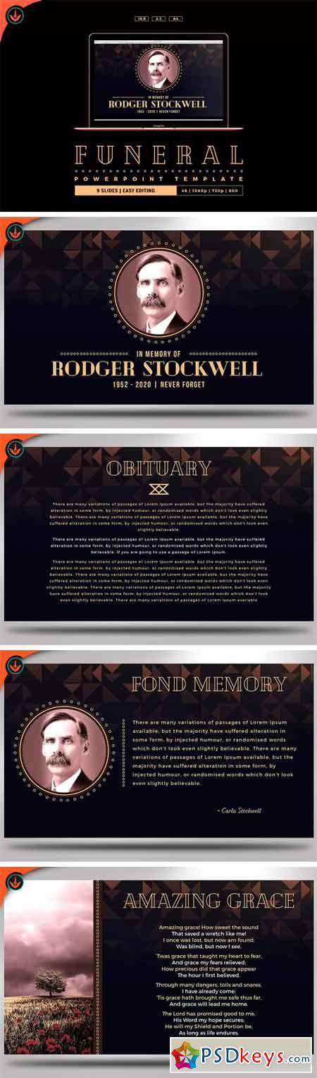 Art Deco Funeral PowerPoint Template 2163409 » Free Download